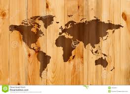 World Map On Wood Planks by Wooden Map Stock Image Image 2422951