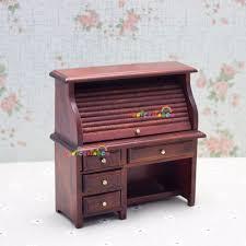 Schreibtisch Holz Schubladen Puppenhaus Miniaturen 1 12 Skala Zimmer Möbel Zubehör Holz Studie