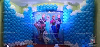 frozen themed party entertainment event management company balloon decoration modern entertainment