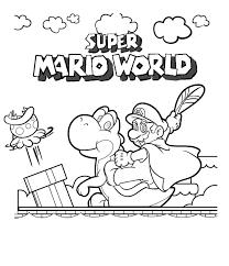 super mario coloring page getcoloringpages com