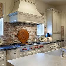 kitchen with brick backsplash brick stove backsplash design ideas