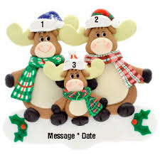 buy moose family 3 personalized ornament personalized christmas