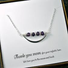 unique mothers jewelry necklace s day birthday christmas gift gemstone