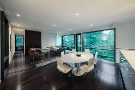 Black Trim Windows Decor Engineered Wood Flooring Dining Room Modern With Black Window Trim