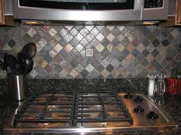 Ceramictec MultiColor Tumbled Slate Kitchen Backsplash - Slate kitchen backsplash