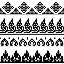 thai design seamless thai pattern repetitive design from thailand folk art
