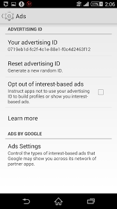using an android smartphone opt out google using my