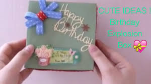 sweet birthday gift idea for mom explosion box youtube