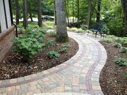 interesting brick and pea gravel with garden path ideas on with hd