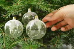 glass tree ornaments decore