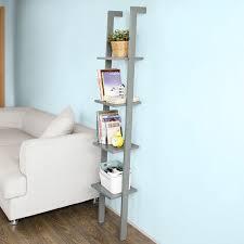 Leaning Ladder 5 Shelf Bookcase Best Leaning Ladder Style Bookshelf U0026 Bookcase Reviews