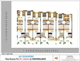 floor plan of house in india row house floor plans in india plan incredible rowhouse