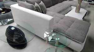 recouvrir canapé tissu grand canapé d angle cado contemporain en simili cuir et tissu