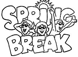 spring break coloring kids coloring