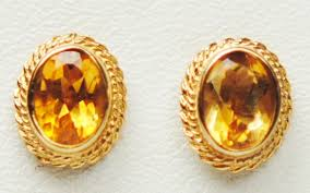 9 carat gold earrings citrine 9 carat yellow gold earrings g20 5715 18