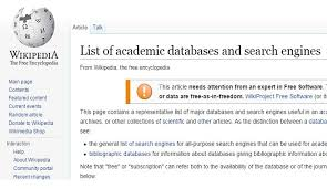 list of engines opinions on list of academic databases and search engines