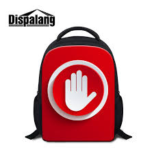 kindergarten backpack pattern dispalang red style small backpack hand icons pattern kids school