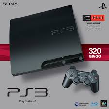 ps3 gaming console sony playstation 3 slim 320 gb charcoal black console