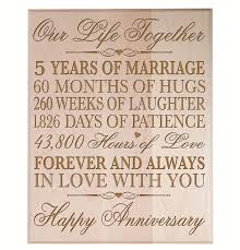 fifth anniversary gift ideas for him top 20 best 5th wedding anniversary gifts