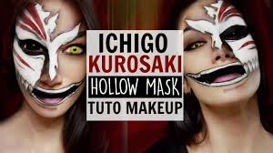 ichigo kurosaki hollow mask makeup tutorial youtube