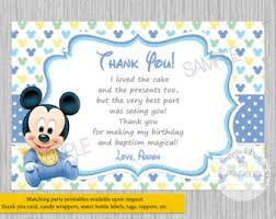 Mickey Mouse 1st Birthday Card Printed Or Digital Chevron Baby Mickey Mouse 1st Birthday