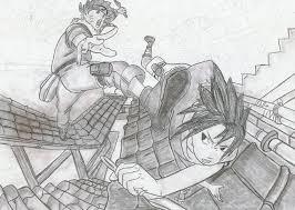 naruto sasuke drawing ghostwolf98 deviantart