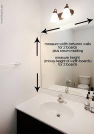 Standard Height Of Bathroom Mirror by Best 10 Bathroom Mirror Redo Ideas On Pinterest Redo Mirror