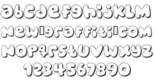 bubbles lettering alphabet block letters graffiti alphabet