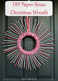 Christmas Wreath Decorations To Make by Diy Paper Straw Christmas Wreath Home Crafts By Ali