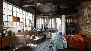 industrial lofts industrial loft furniture ideas for masculine bedroom interior