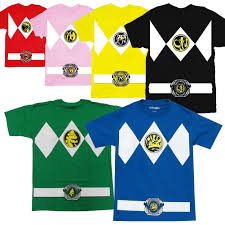 Power Rangers Halloween Costumes Adults Power Rangers Yellow Rangers Costume Shirt Power