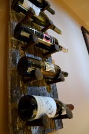 barn wood wine rack made from old barn beadboard wood and