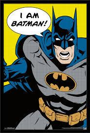 amazon com trends international batman i am batman wall poster