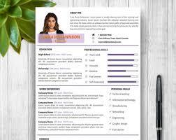 resume template modern cover letter portfolio word cv
