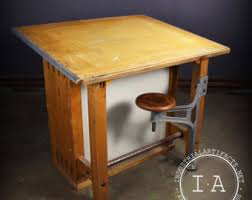 Drafting Table Arm Drafting Table Stool Etsy
