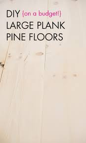 diy white washed wide plank wood floors a subtle revelry