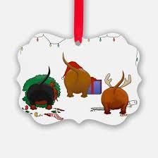dachshund christmas christmas ornament cafepress