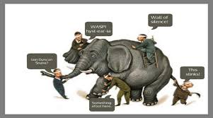 Blind Man And Elephant Waspi And The Five Blind Men Pension Life