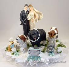 cake topper with dog lovely decoration animal wedding cake toppers smartness