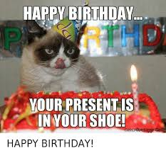 Happy Birthday Cat Memes - 25 best memes about happy birthday grumpy cat and birthday