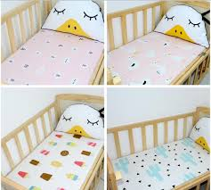 Crib Mattress Fitted Sheet Cotton Baby Fitted Sheet Cloud Crown Crib Mattress Cover