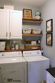 adding shelves and storage to a builder grade laundry room