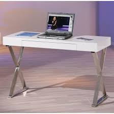 White High Gloss Computer Desk Mayline Laptop Office Desk In High Gloss White Buy Computer Desk
