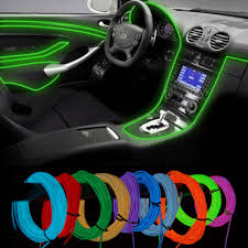 flexible neon led light glow el wire string strip tube car