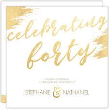 40th anniversary invitations 40th anniversary invitations