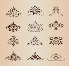 22 best vintage vector ornaments set images on vintage
