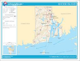 Rhode Island travel net images Map of rhode island street map online maps png