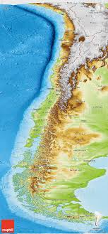 chile physical map physical panoramic map of chile
