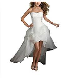 wedding dresses high front low back amazon com high low wedding dresses wedding clothing