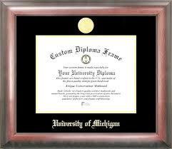 of michigan diploma frame of michigan wolverines college graduation diploma frame